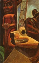 Three Totems 1928 - Emily Carr reproduction oil painting