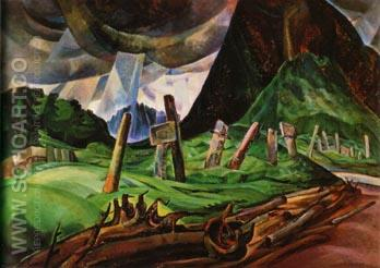Vanquished 1931 - Emily Carr reproduction oil painting