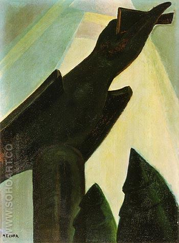 The Raven 1928 - Emily Carr reproduction oil painting