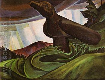 Big Raven 1931 - Emily Carr reproduction oil painting