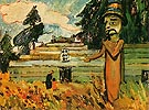 Potlatch Figure 1912 - Emily Carr reproduction oil painting