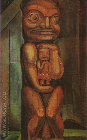 Totem Mother kitwancool 1928 - Emily Carr reproduction oil painting