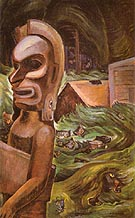 Zunoqua of The Cat Village 1931 - Emily Carr reproduction oil painting