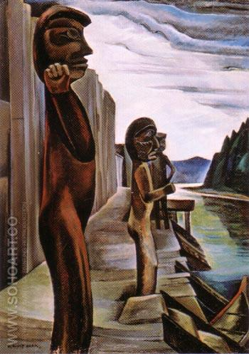 Blunden Harbour 1931 - Emily Carr reproduction oil painting