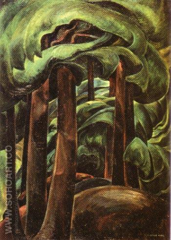 Western Forest 1929 - Emily Carr reproduction oil painting