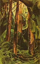 Wood Interior 1929 - Emily Carr reproduction oil painting