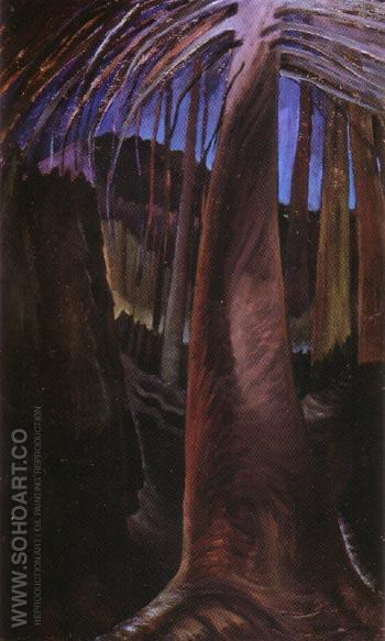 Old Tree at Dusk 1932 - Emily Carr reproduction oil painting