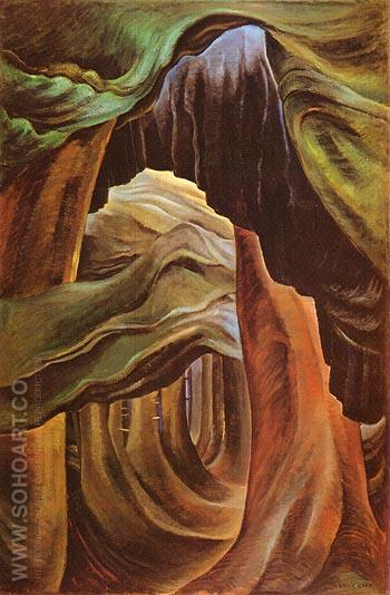 Forest British Columbia 1931 - Emily Carr reproduction oil painting