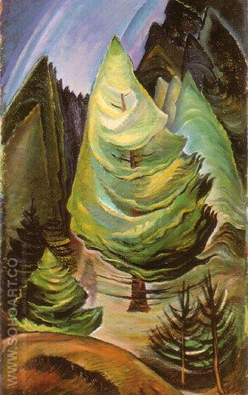 The little Pine 1931 - Emily Carr reproduction oil painting