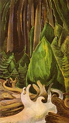 Sea Drift at The Edge of The Forest 1931 - Emily Carr reproduction oil painting