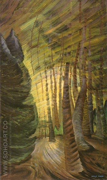 Sombreness Sunlit 1937 - Emily Carr reproduction oil painting