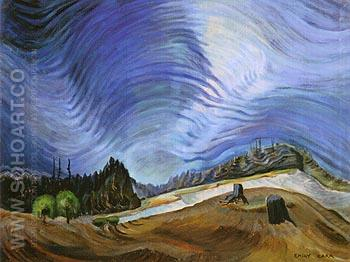 Above the Gravel Pit 1937 - Emily Carr reproduction oil painting