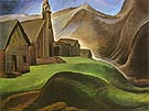 Lillooet Indian Village 1933 - Emily Carr reproduction oil painting