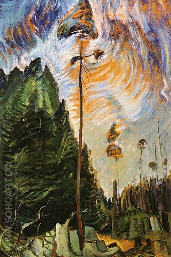 Edge of The Forest 1935 - Emily Carr reproduction oil painting