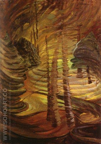 Dancing Sunlight 1937 - Emily Carr reproduction oil painting