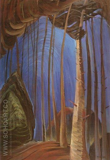 Blue Sky 1932 - Emily Carr reproduction oil painting
