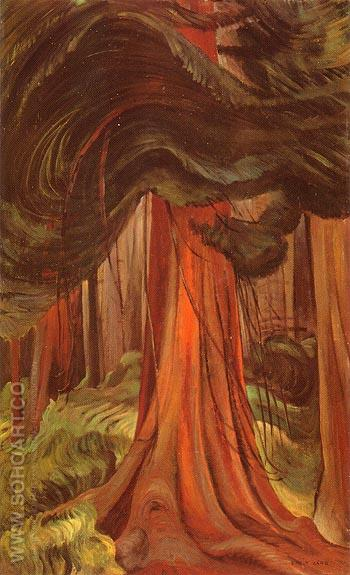 Red Cedar 1931 - Emily Carr reproduction oil painting