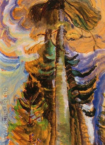 Bole of a Tree 1934 - Emily Carr reproduction oil painting