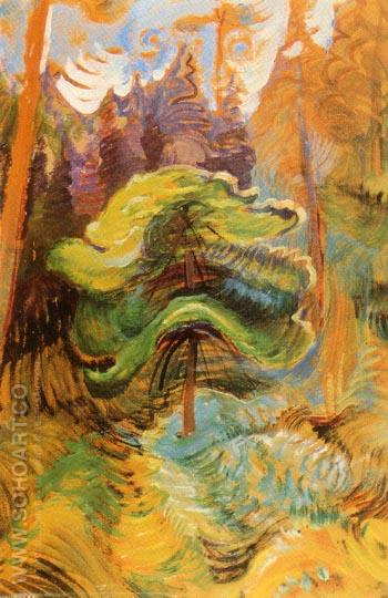 Untitled 1936 - Emily Carr reproduction oil painting