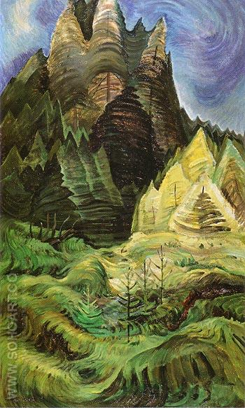 Reforestation 1936 - Emily Carr reproduction oil painting
