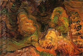 Laughing Forest 1939 - Emily Carr reproduction oil painting