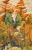 B C Trees 1934 - Emily Carr reproduction oil painting