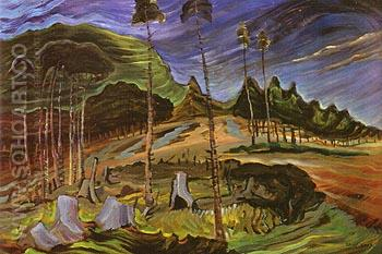 Plumed Firs 1939 - Emily Carr reproduction oil painting