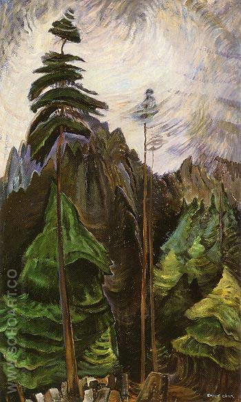 Mountain Forest 1935 - Emily Carr reproduction oil painting