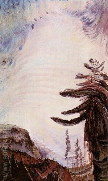 Fir Tree and Sky 1935 - Emily Carr reproduction oil painting