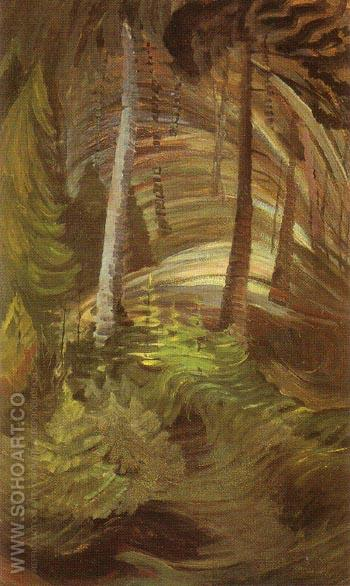 Forest 1937 - Emily Carr reproduction oil painting