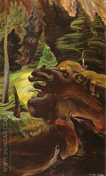 Roots 1937 - Emily Carr reproduction oil painting