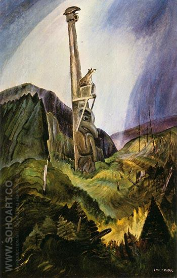 Forsaken 1937 - Emily Carr reproduction oil painting