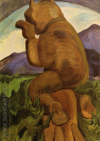 Laughing Bear 1941 - Emily Carr reproduction oil painting