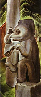Masset Bears 1941 - Emily Carr reproduction oil painting