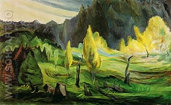 Clearing 1942 - Emily Carr reproduction oil painting