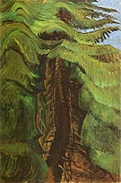 Cedar Sanctuary 1942 - Emily Carr reproduction oil painting