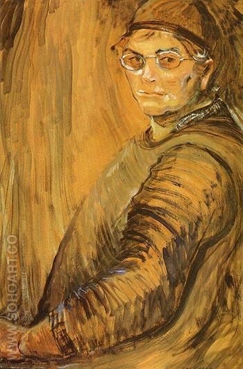 Self Portrait 1938 - Emily Carr reproduction oil painting
