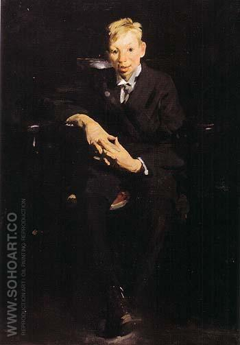 Frankie the Organ Boy 1907 - George Bellows reproduction oil painting