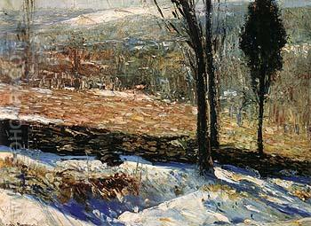 The Stone Fence 1909 - George Bellows reproduction oil painting