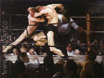 Stag at Sharkey's 1909 - George Bellows reproduction oil painting