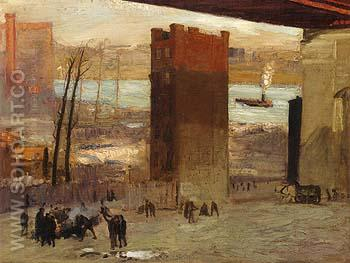 Lone Tenement 1909 - George Bellows reproduction oil painting
