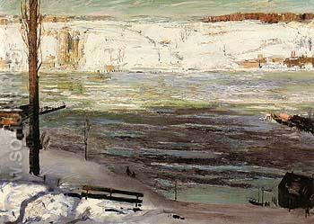 Floating Ice 1910 - George Bellows reproduction oil painting