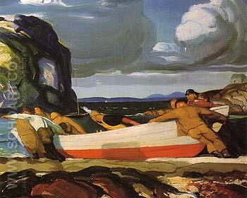 The Big Dory 1913 - George Bellows reproduction oil painting