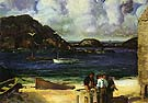 Harbor at Monhegan 1913 - George Bellows reproduction oil painting