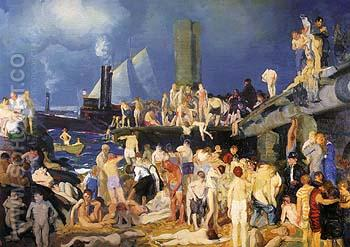 Riverfront No 1 1915 - George Bellows reproduction oil painting