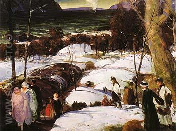 Easter Snow 1915 - George Bellows reproduction oil painting