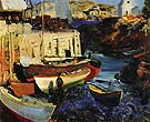 Matinicus Harbor Late Afternoon 1916 - George Bellows reproduction oil painting