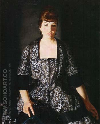Emma in the Black Print 1919 - George Bellows reproduction oil painting