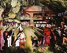 Tennis at Newport 1920 - George Bellows reproduction oil painting