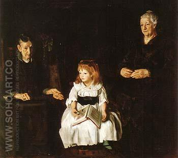 Elinor Jean and Anna  1920 - George Bellows reproduction oil painting